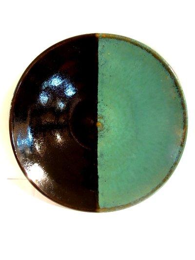 画像1: 牛ノ戸焼 染分平皿 (8寸)