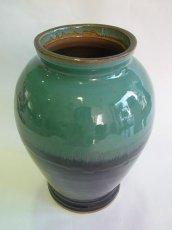 画像2: 牛ノ戸焼 染分花瓶 (中) (2)