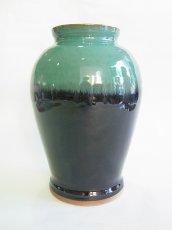 画像1: 牛ノ戸焼 染分花瓶 (中) (1)
