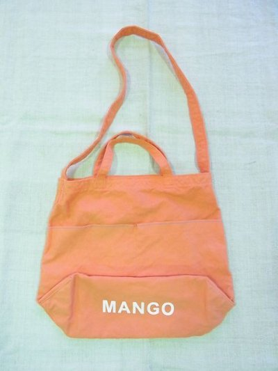 画像1: grown in the sun NEW MARKET BAG MANGO