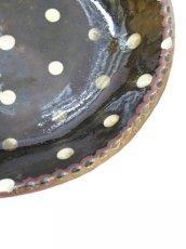 画像2: 山根窯 灰釉スリップウェア大鉢 (2)