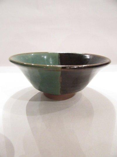 画像1: 牛ノ戸焼 染分飯茶碗