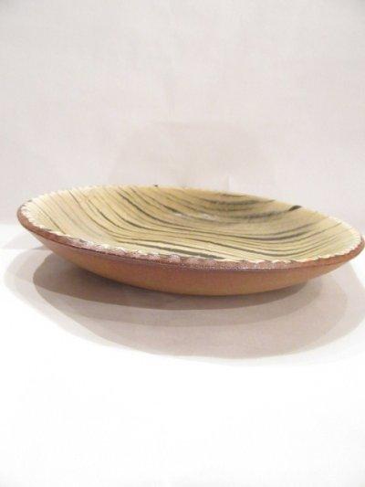 画像2: 山根窯 灰釉スリップウェア丸皿