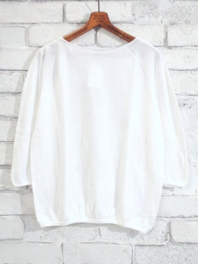 画像1: F/style ホールガーメントの綿ニット/丸首・七分袖