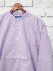 画像4: ●SEA SALT  ボタニカルコットン ノーカラーシャツ (4)