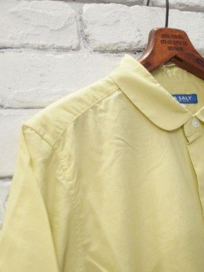 画像2: ●SEA SALT  ボタニカルコットン ラウンドカラーロングシャツ