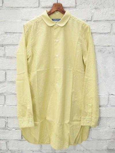 画像1: ●SEA SALT  ボタニカルコットン ラウンドカラーロングシャツ