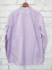 画像6: ●SEA SALT  ボタニカルコットン ノーカラーシャツ (6)