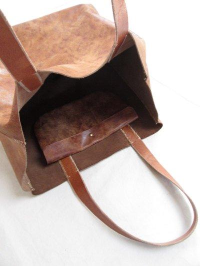 画像2: N 25 キャメルレザートートバッグ