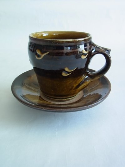 画像1: 山根窯 コーヒーカップ