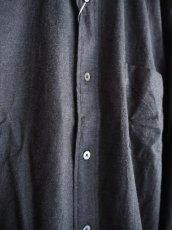 画像3: COMOLI コットンネル バンドカラーシャツ (3)