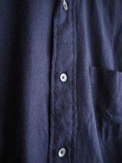 画像5: COMOLI コットンネル バンドカラーシャツ (5)