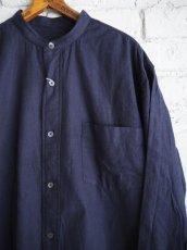 画像4: COMOLI コットンネル バンドカラーシャツ (4)