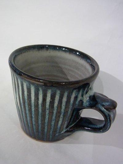 画像2: 湯町窯 切立カップ たてしのぎ