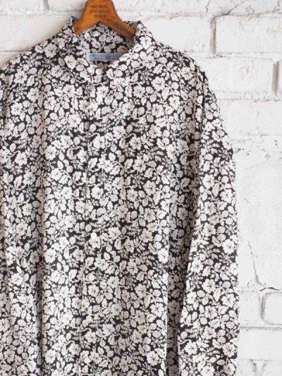 画像1: R&D.M.Co- / OLDMAN'S TAILOR ハンドプリントロングシャツ