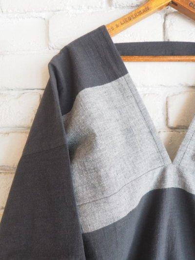 画像2: ● F/style 亀田縞のかっぽう着(丈長)