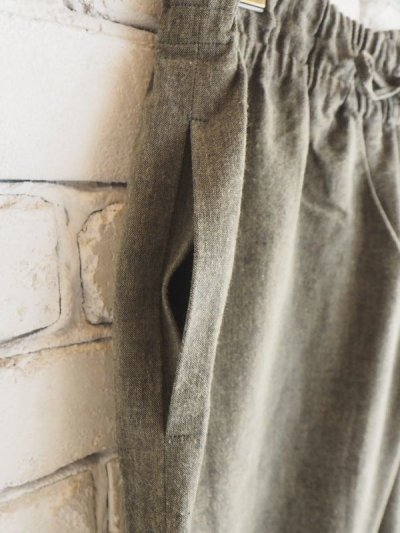 画像2: ● F/style 亀田縞のワイドパンツ(薄地)