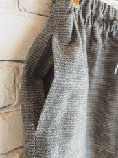 画像2: ● F/style 亀田縞のワイドパンツ(厚地) (2)