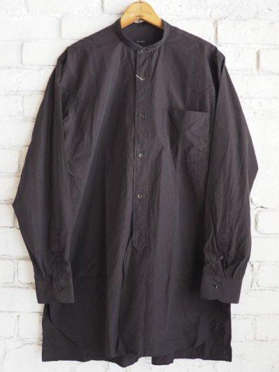 画像1: COMOLI バンドカラーシャツ