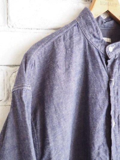 画像2: COMOLI パープルダンガリー プルオーバーシャツ