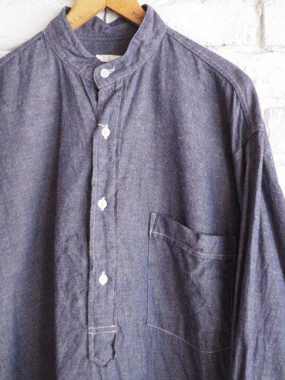 画像3: COMOLI パープルダンガリー プルオーバーシャツ