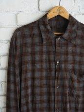 画像2: COMOLI レーヨンオープンカラーシャツ (2)