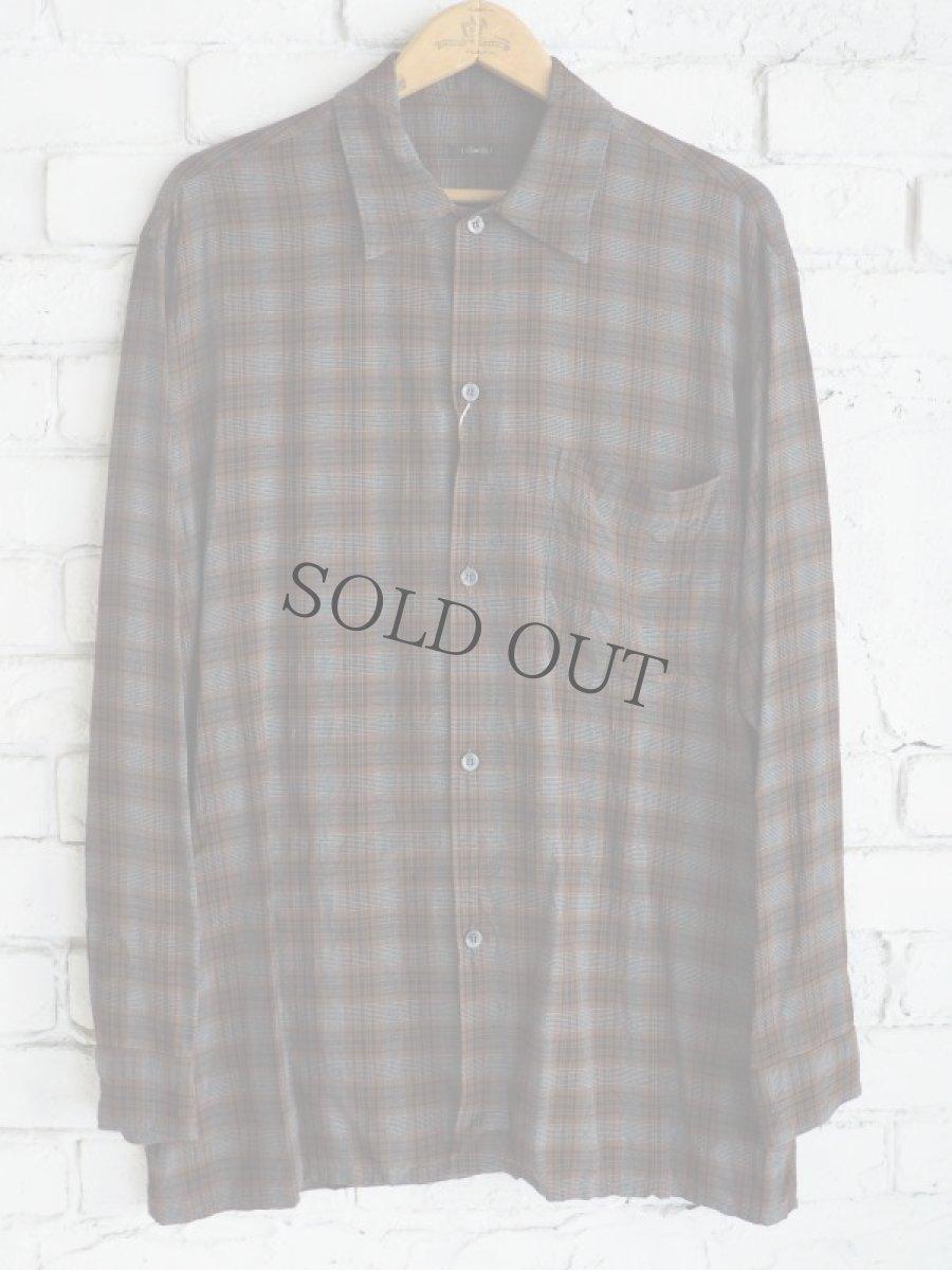 画像1: COMOLI レーヨンオープンカラーシャツ (1)