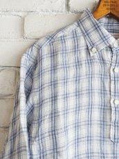 画像2: SUNSHINE+CLOUD スリップオン カンクリーニリネンチェックシャツ (2)