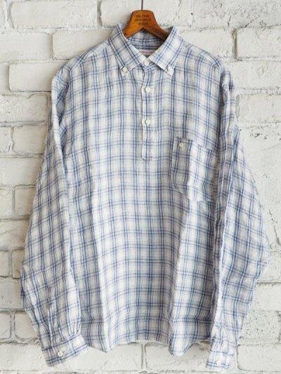 画像1: SUNSHINE+CLOUD スリップオン カンクリーニリネンチェックシャツ