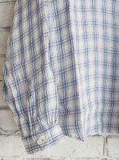 画像3: SUNSHINE+CLOUD スリップオン カンクリーニリネンチェックシャツ (3)
