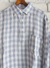 画像4: SUNSHINE+CLOUD スリップオン カンクリーニリネンチェックシャツ (4)