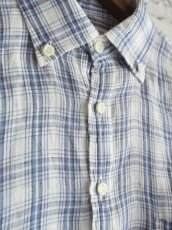 画像5: SUNSHINE+CLOUD スリップオン カンクリーニリネンチェックシャツ (5)