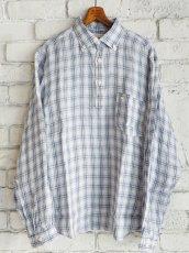 画像1: SUNSHINE+CLOUD スリップオン カンクリーニリネンチェックシャツ (1)