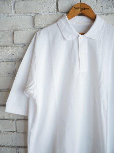 画像2: COMOLI 鹿の子半袖ポロシャツ