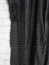 画像3: maku textiles クレープコットンジャムダニ横縞ワンピース G1833 (3)