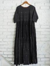 画像1: maku textiles クレープコットンジャムダニワンピース G1836 (1)