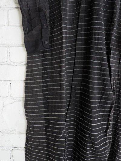 画像3: maku textiles クレープコットンジャムダニ横縞ワンピース G1833