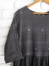 画像2: maku textiles クレープコットンジャムダニワンピース G1836 (2)