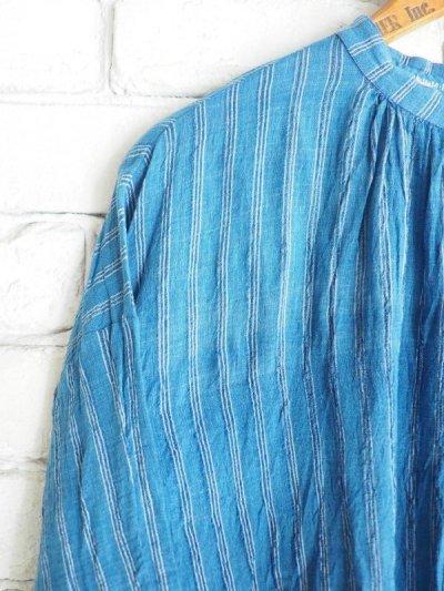 画像2: maku textiles 藍染クレープコットンワンピース G1919