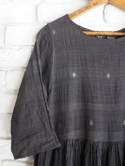 画像2: maku textiles クレープコットンジャムダニワンピース G1836
