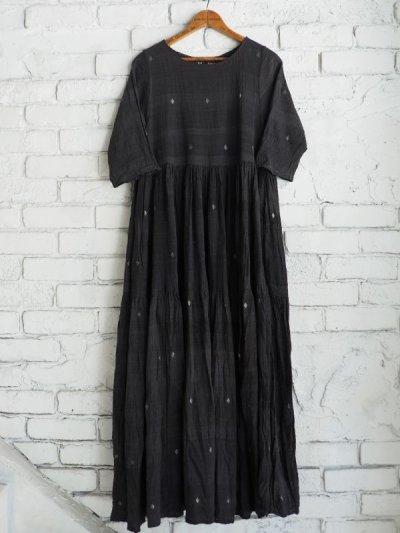 画像1: maku textiles クレープコットンジャムダニワンピース G1836