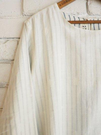 画像2: maku textiles Aライン二重ワンピース G1711