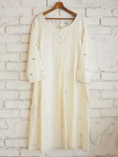 画像1: maku textiles ジャムダニラウンドネックチュニックドレス G1721