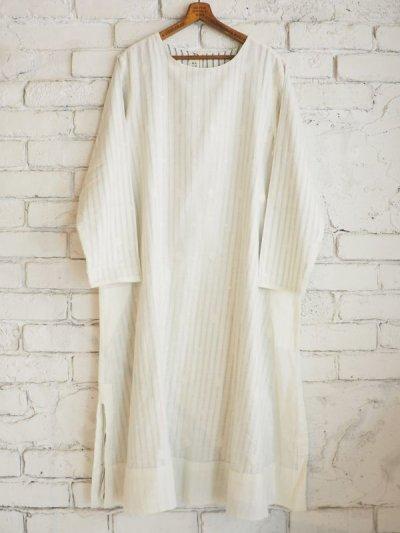 画像1: maku textiles Aライン二重ワンピース G1711