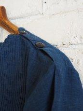 画像4: maku textiles インディゴ染めカディーピンタックワンピース G1659 (4)