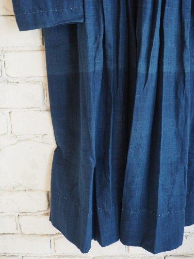 画像3: maku textiles インディゴ染めカディーピンタックワンピース G1659