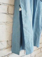 画像3: maku textiles インディゴ染めカディーピンタックワンピース G1656 (3)