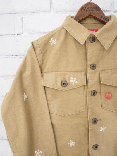 画像2: ●grown in the sun joe cool ユーティリティーシャツジャケット (刺繍あり)