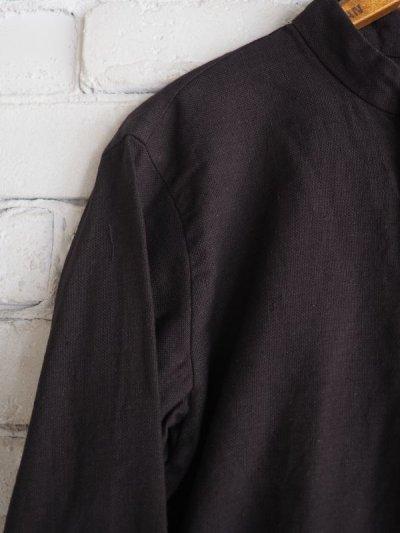 画像2: YAECA 【WOMEN'S】 (60130) 別注ログウッド染め カディコットンクルタシャツ