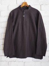 画像1: YAECA 【WOMEN'S】 (60130) 別注ログウッド染め カディコットンクルタシャツ (1)